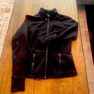 Lululemon knit jacket, size 6, peplum detail in back